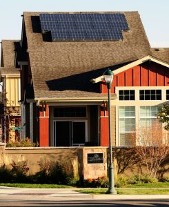 RidgeGate Home with solar panels