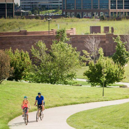 Complete Community bike path RidgeGate Lone Tree Colorado