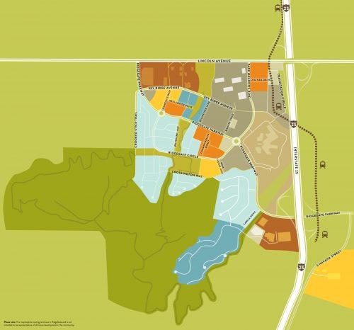 illustrated map of ridgegate community
