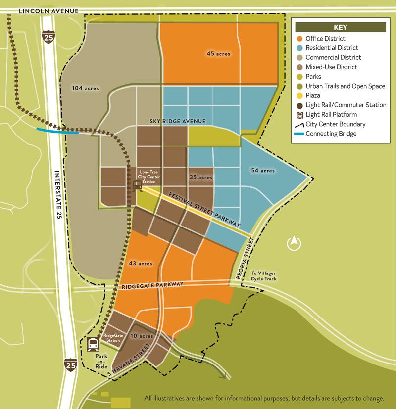 Lone Tree Commercial Development RidgeGate Map